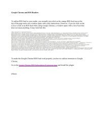 Google Chrome and RSS Readers - JEFFCO Public Schools
