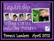 Parent Leaders: April 2013 - JEFFCO Public Schools