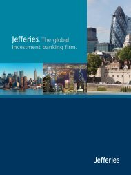 Jefferies. The global investment banking firm.
