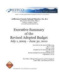 Budget - JEFFCO Public Schools
