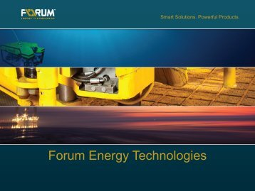 Forum Energy Technologies - Jefferies