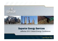 1430 Wed 3 Superior Energy Services - Jefferies