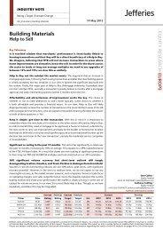 UK Industrials – Building Materials - Jefferies