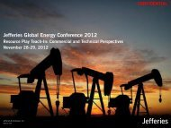 Jefferies Global Energy Conference 2012