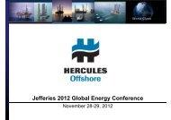 1430 Thu 3 Hercules Offshore - Jefferies
