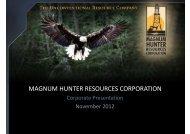 magnum hunter resources corporation - Jefferies