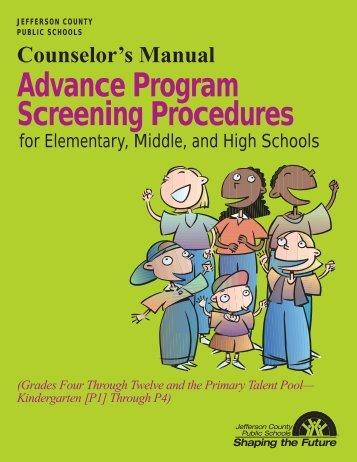 Advance Program Screening Procedures - Jefferson County Public ...