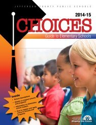 Guide to Elementary Schools - Jefferson County Public Schools ...