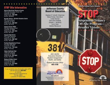 STOP brochure - Jefferson County Public Schools