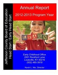 Annual Report - Jefferson County Public Schools