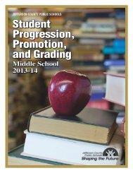 Student Progression, Promotion, and Grading Handbook - Jefferson ...