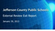 Systems Accreditation - Jefferson County Public Schools