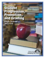Student Progression, Promotion, and Grading - Jefferson County ...