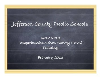 (CSS) 2013 Training Manual (PDF Download) - Jefferson County ...