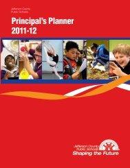 Principal's Planner 2011-12 - Jefferson County Public Schools