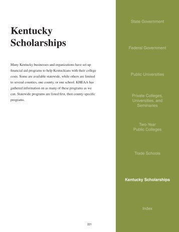 Kentucky Scholarships - Jefferson County Public Schools