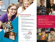Middle School Brochure for JCPS Schools - PDF - Jefferson County ...