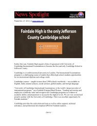 Earlier this year, Fairdale High signed a letter of agreement with ...