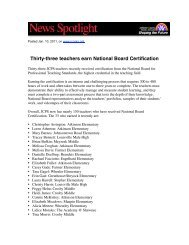 Thirty-three teachers earn National Board Certification