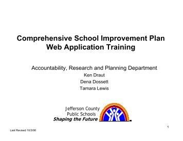 CSIP Web Application V2.0 Training Manual - Jefferson County ...