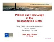 Policies and Technology in the Transportation Sector