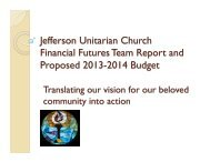 Summary Presentation - Jefferson Unitarian Church