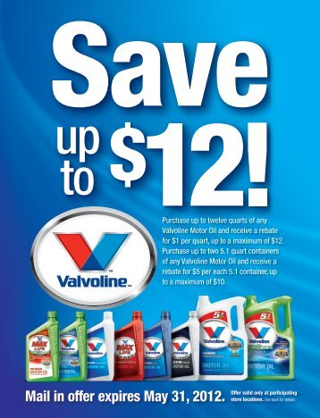 Mail in offer expires May 31, 2012. Offer valid only at ... - Jegs