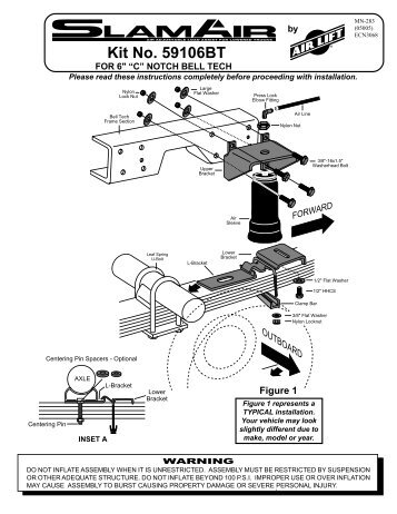 Air Lift 59106BT Leveling Kit Installation Instructions - Jegs