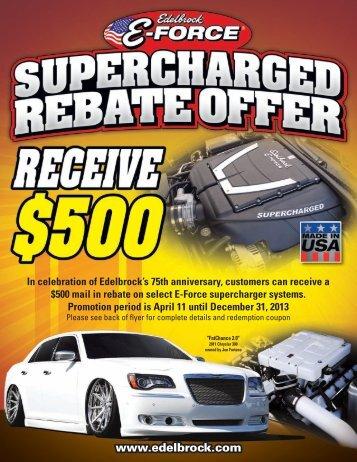 Supercharger Rebate Offer - Edelbrock
