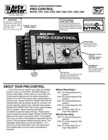 autometer shift light instructions