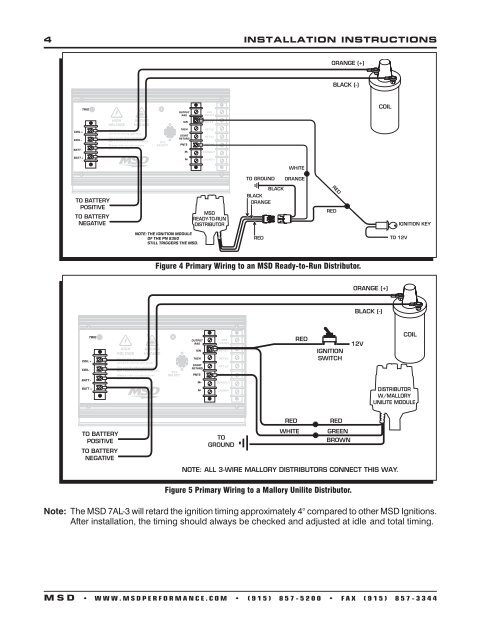 msd 4 installation instructio on msd mounting, ford alternator wiring  diagram, msd ford wiring diagrams