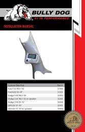 Bully Dog 32300 Gauge Pod Installation Instructions - Jegs