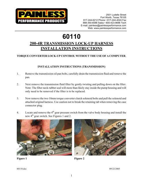 200-4R Transmission Torque Converter Lock-Up Kit - Painless