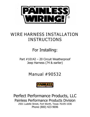 for installing painless wiring How To Install Painless Wiring Harness view pdf painless wiring how to install painless wiring harness