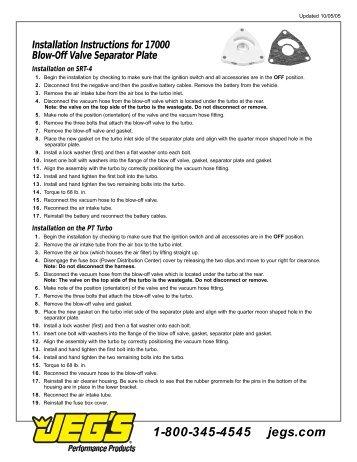 Installation guides.