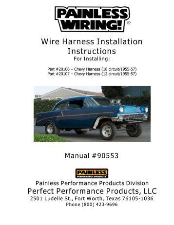 1957 chevy harness painless wiring?quality=85 14 circuit 8 fuse nostalgia harness painless wiring