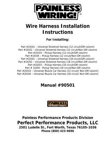 wire harness installation instructions painless wiring rh yumpu com Painless Wiring Diagram GM painless wiring installation manual for 10123