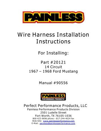 wire harness installation instructions painless wiring?quality=85 8 circuit universal remote mount modular harness painless wiring painless wiring harness installation at creativeand.co