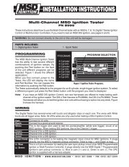 msd 8996 ignition tester installation instructions - jegs