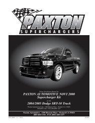 2004 Dodge SRT-10 Ram - Paxton Superchargers