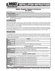 msd 8975 timing retard control installation instructions - jegs