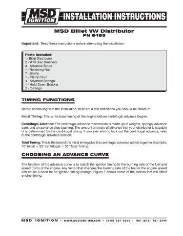 msd pro billet v8 distributor dalhems rh yumpu com Mallory Unilite Distributor Wiring Diagram Chevy HEI Distributor Wiring Diagram