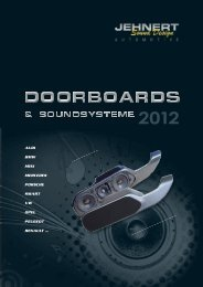 Katalog 2012 NEU! (PDF) - Jehnert Sound Design