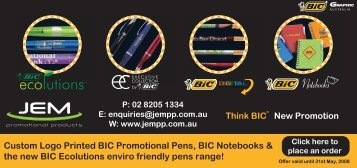 BIC Ecolutions - JEM Promotional Products