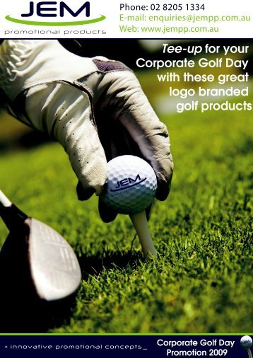 JEM Promotional Products Corporate Golf Day Products Promotion
