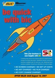 Be quick with BIC Pens - JEM Promotional Products