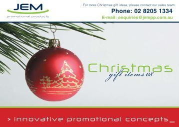 to Download the PDF Brochure - JEM Promotional Products