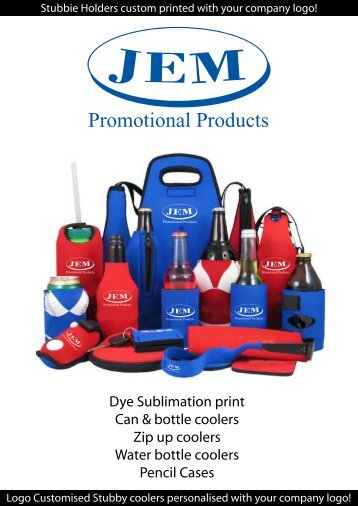 Printed Stubby Holders - JEM Promotional Products