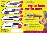 JEM Promotional Products - BIC Pens Write Here, Write Now