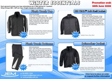 Winter Apparel Essentials - JEM Promotional Products